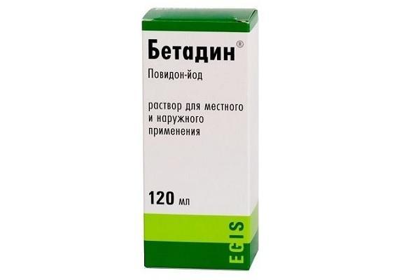 Бетодин в растворе